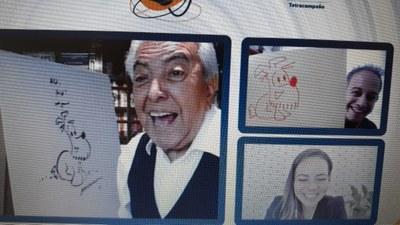 Em live promovida pela International School, Mauricio de Sousa ensina a desenhar seus personagens